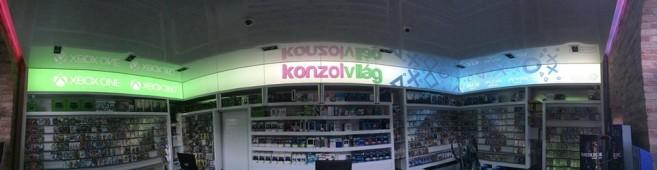Panorámakép a megújult Váci úti Konzolvilág üzletünkről