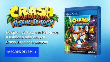 Felújított változatban tért vissza a mindenki által kedvelt Crash Bandicoot sorozat!